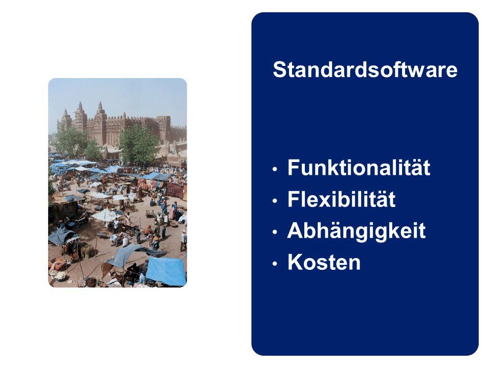 Standardsoftware Funktionalität Flexibilität Abhängigkeit Kosten