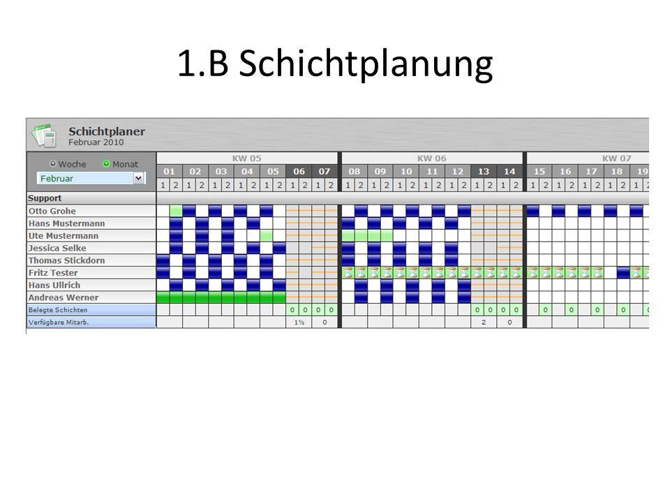 1.B Schichtplanung