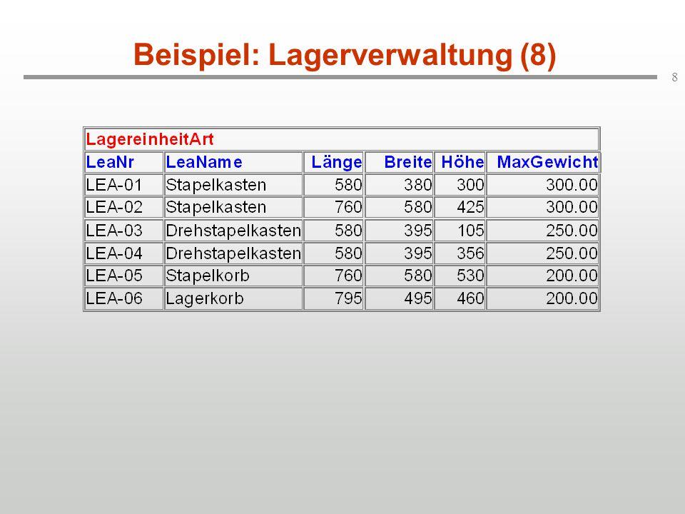 8 Beispiel: Lagerverwaltung (8)