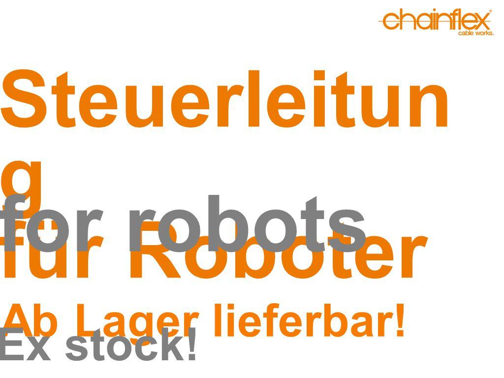 Steuerleitun g für Roboter for robots Ab Lager lieferbar! Ex stock!