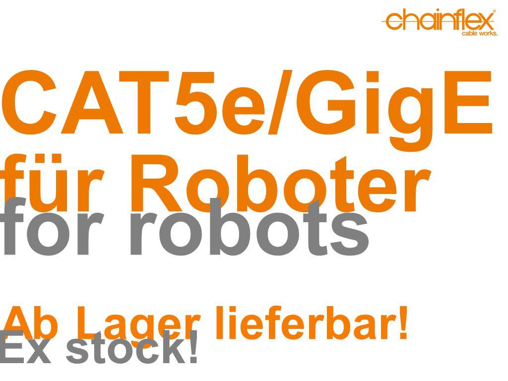 CAT5/GigE ►CFROBOT8.045 tordierbar, UL/CSA CFROBOT8.045 for torsion, UL/CSA ►± 180° mit 3 Mio.