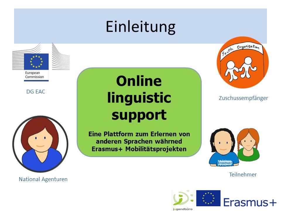 """Ziele von OLS Online basiertes Erlernen von anderen Sprachen (momentan """"nur 6: Englisch, Deutsch, Französisch, Spanisch, Niederländisch und Italienisch) Erfassung von Lernständen (Vorher / Nachher) über Tests die ca."""