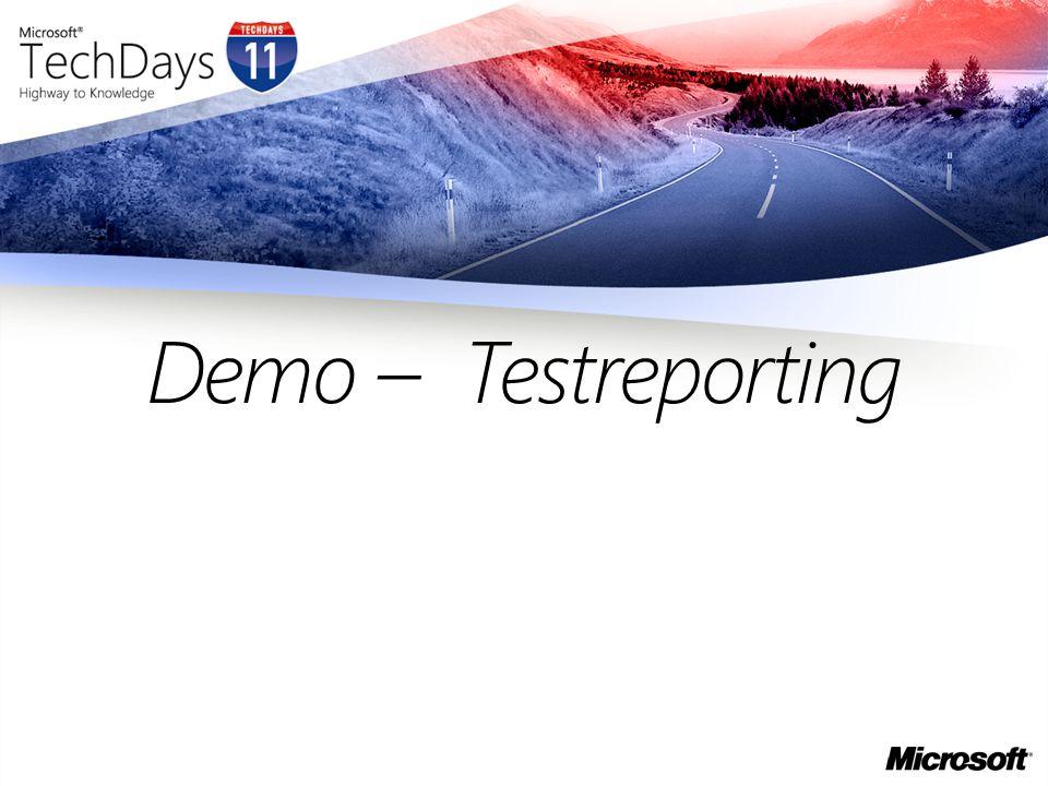 Demo – Testreporting