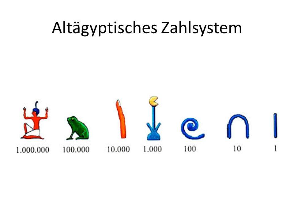 Altägyptisches Zahlsystem