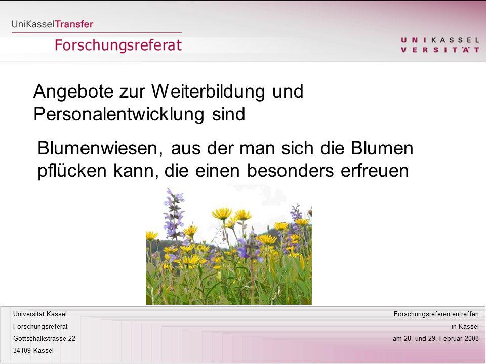 Universität Kassel Forschungsreferententreffen Forschungsreferat in Kassel Gottschalkstrasse 22 am 28.