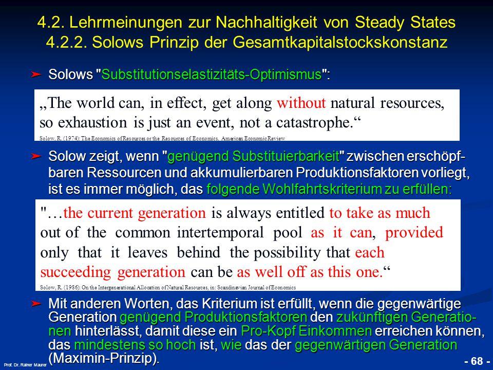 © RAINER MAURER, Pforzheim - 68 - Prof. Dr. Rainer Maurer ➤ Solows