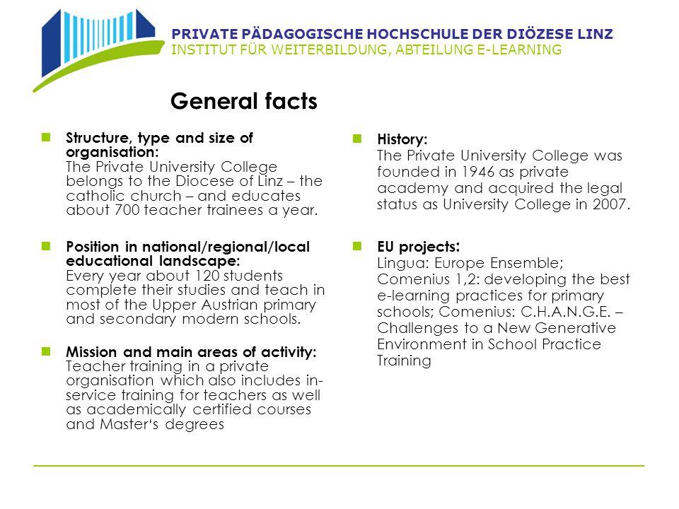 PRIVATE PÄDAGOGISCHE HOCHSCHULE DER DIÖZESE LINZ INSTITUT FÜR WEITERBILDUNG, ABTEILUNG E-LEARNING Special knowledge/strengths Pedagogical knowledge and teaching methodology.