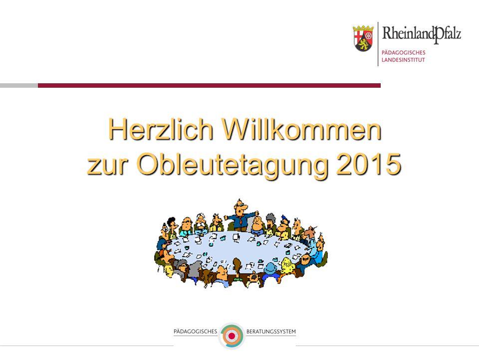 Herzlich Willkommen zur Obleutetagung 2015