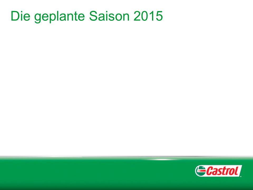 Die geplante Saison 2015