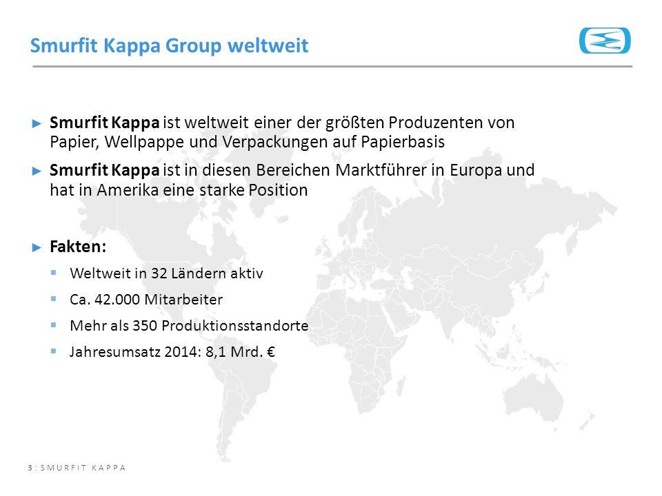 3 : SMURFIT KAPPA ► Smurfit Kappa ist weltweit einer der größten Produzenten von Papier, Wellpappe und Verpackungen auf Papierbasis ► Smurfit Kappa is