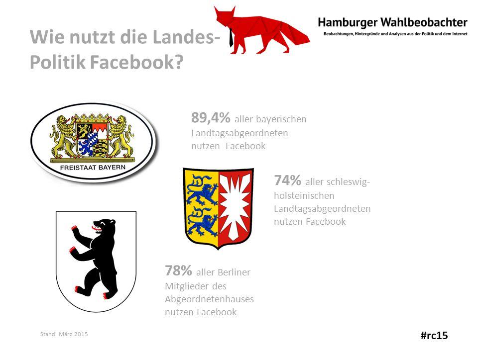 Wie nutzt die Landes- Politik Facebook.