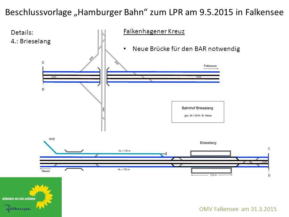 "Beschlussvorlage ""Hamburger Bahn"" zum LPR am 9.5.2015 in Falkensee OMV Falkensee am 31.3.2015 Details: 4.: Brieselang Falkenhagener Kreuz Neue Brücke"