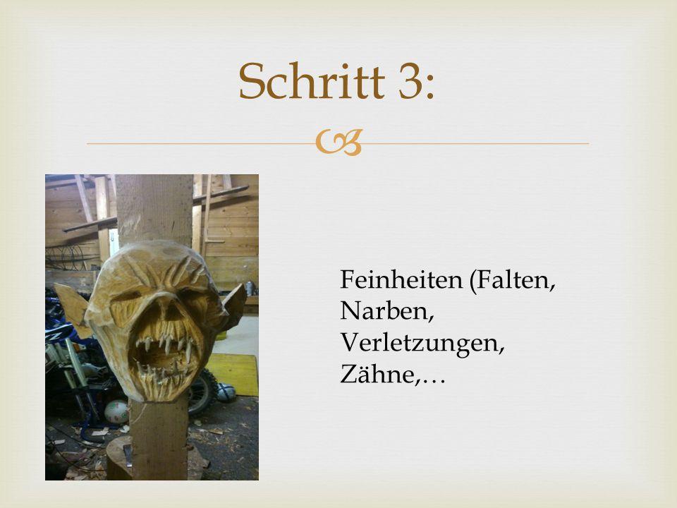 Schritt 3: Feinheiten (Falten, Narben, Verletzungen, Zähne,…