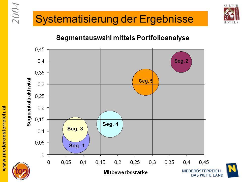 2004 www.niederoesterreich.at Systematisierung der Ergebnisse Seg.