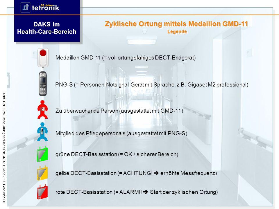 Zyklische Ortung mit dem Medaillon GMD-11 DAKS Release 7 HiPath DAKS V3 R0 Stand: 27. März 2008