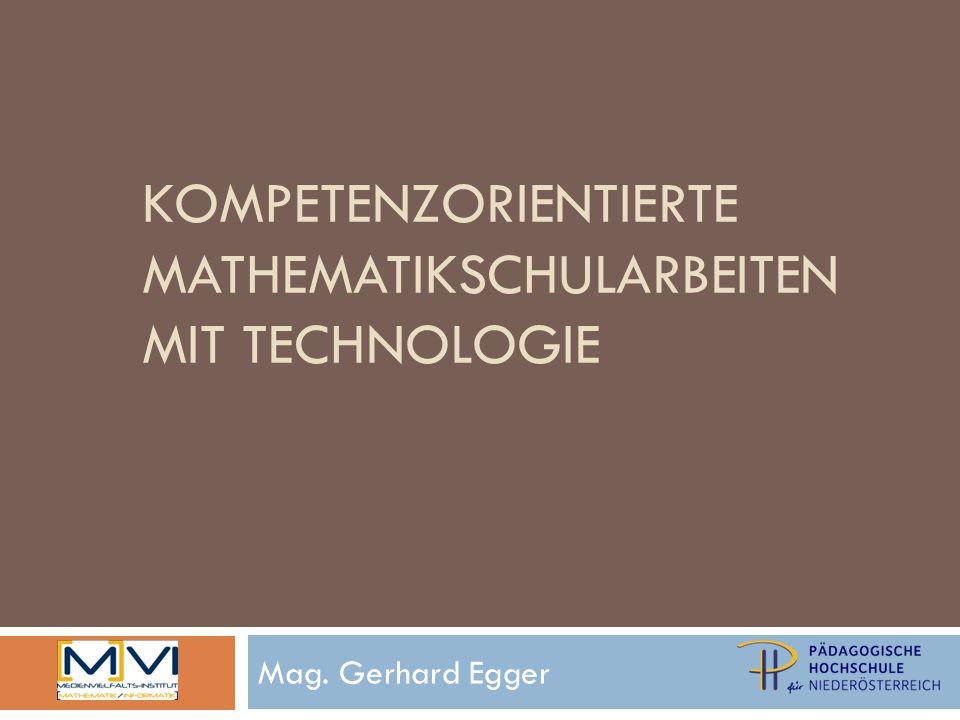 Technologieeinsatz bei mathematischen Aufgaben / Problemen vgl.