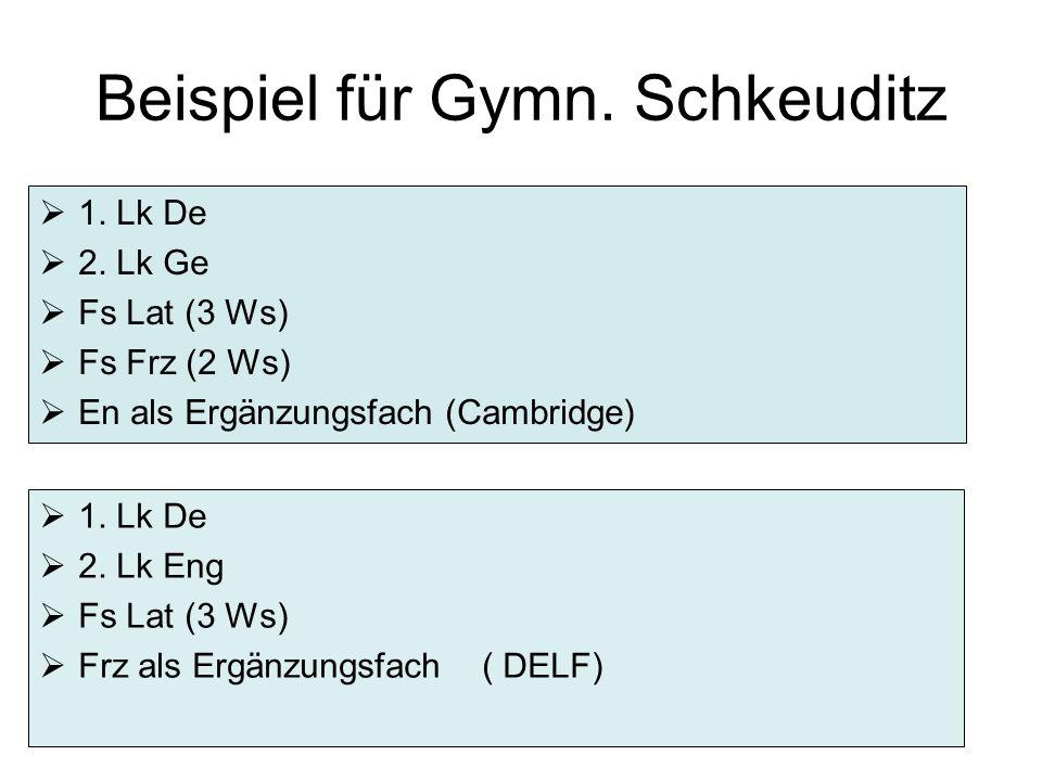 Beispiel für Gymn. Schkeuditz  1. Lk De  2.