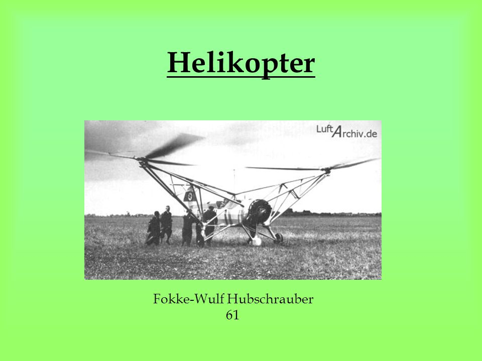 Helikopter Fokke-Wulf Hubschrauber 61