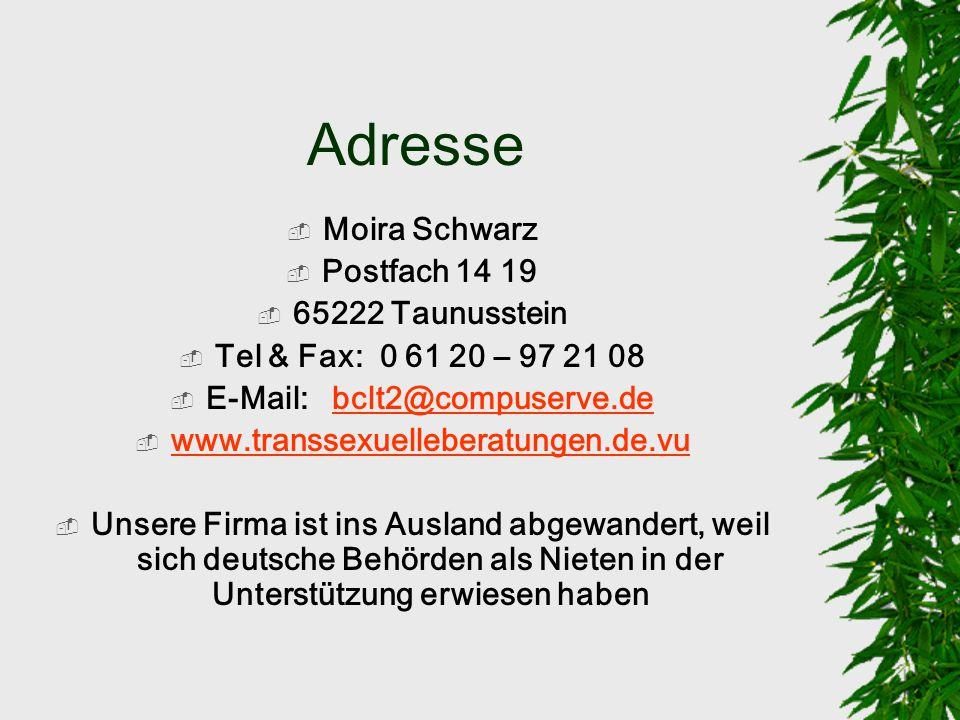 Noch was, was man wissen sollte Leider ist es eine Tatsache, dass die Hälfte der deutschen Mediziner die mit Transsexualität zu tun haben, - Transsexu