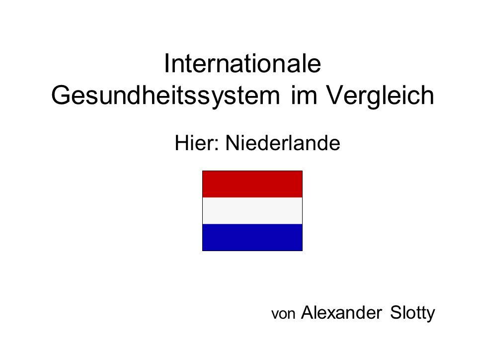 Internationale Gesundheitssystem im Vergleich Hier: Niederlande von Alexander Slotty