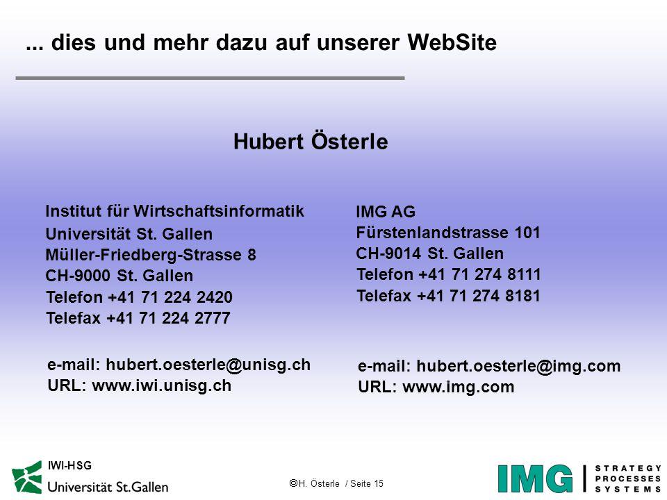  H. Österle / Seite 15 IWI-HSG...
