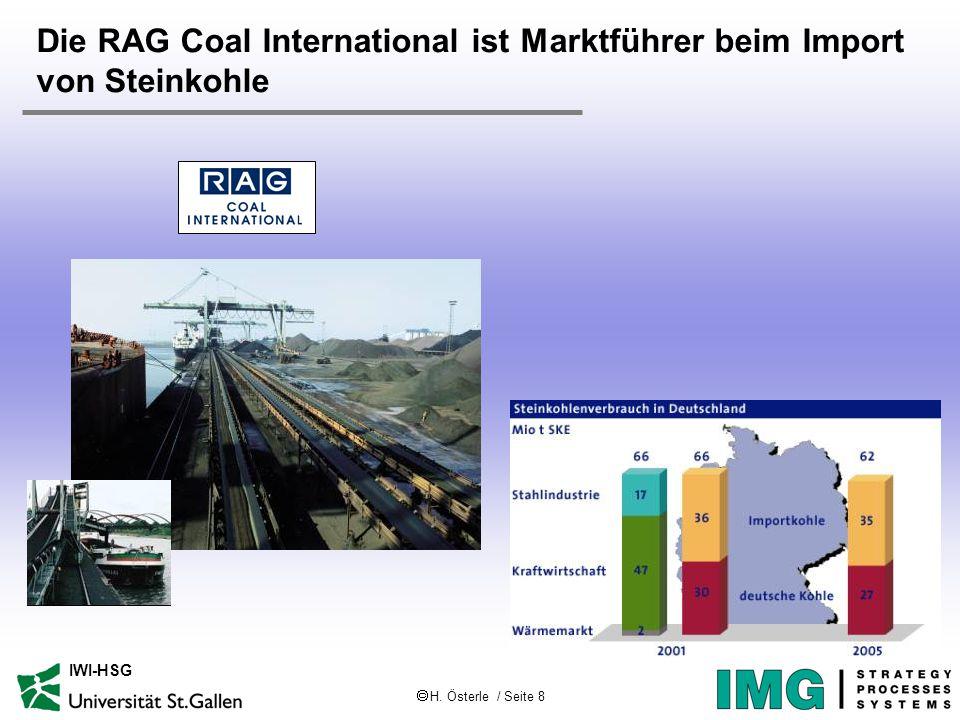  H. Österle / Seite 8 IWI-HSG Die RAG Coal International ist Marktführer beim Import von Steinkohle
