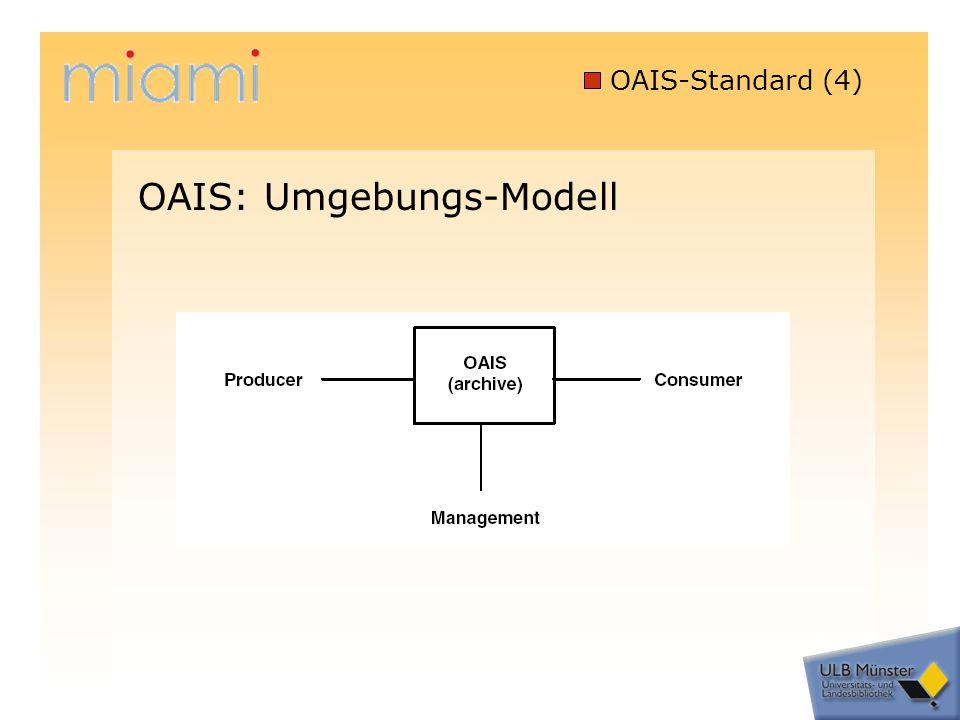 OAIS-Standard (4) OAIS: Umgebungs-Modell