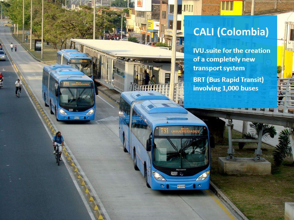 Die IVU.suite im Einsatz z.B. in Kolumbien IVU.suite für den Aufbau eines neuen Nahverkehrssystems in Cali BRT (Bus Rapid Transit) System mit 1.000 Bu