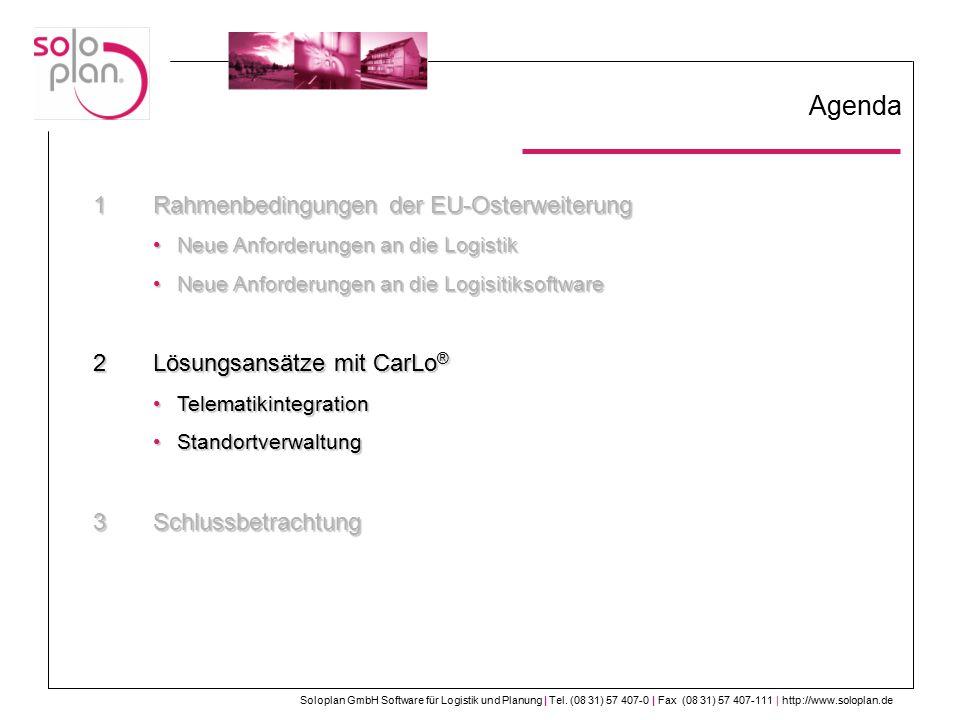 Soloplan GmbH Software für Logistik und Planung | Tel.