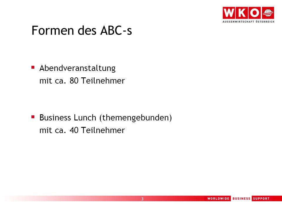 3 Formen des ABC-s  Abendveranstaltung mit ca.