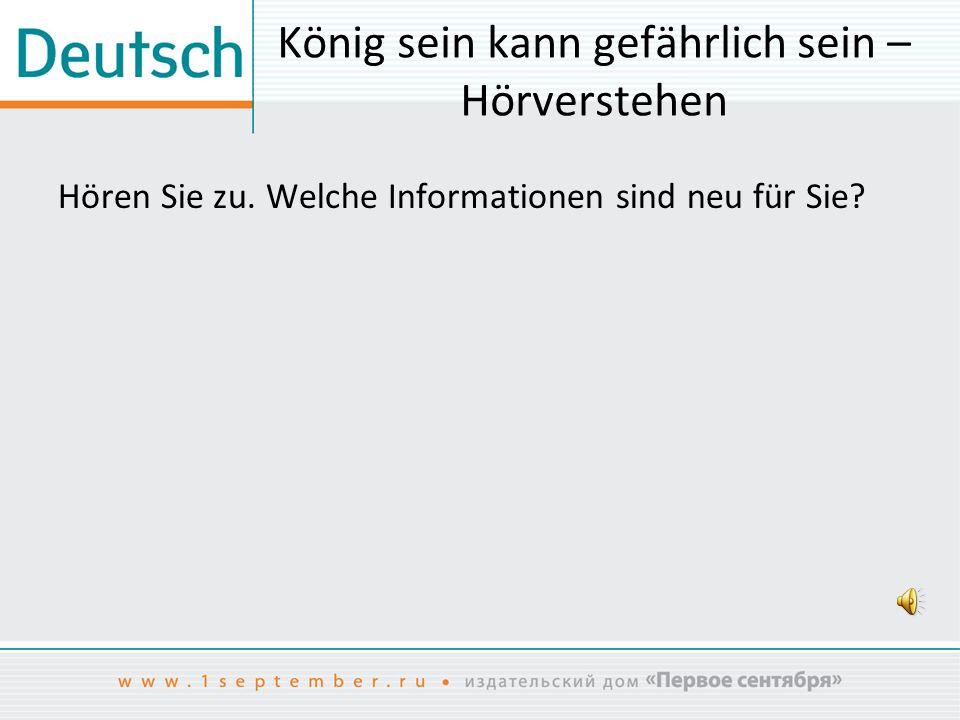 Transkription der Hörtexte Ein Fürst kommt zu Macht Die germanische Gesellschaft war in Stände aufgeteilt.