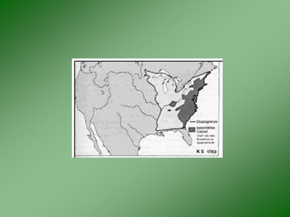 3. Erschließung nach 1776 Besiedlungsprozess: –Erschließung vom Atlantik nach W zum Pazifik – Natürliche Hindernisse: Appalachen: Auseinandersetzung m