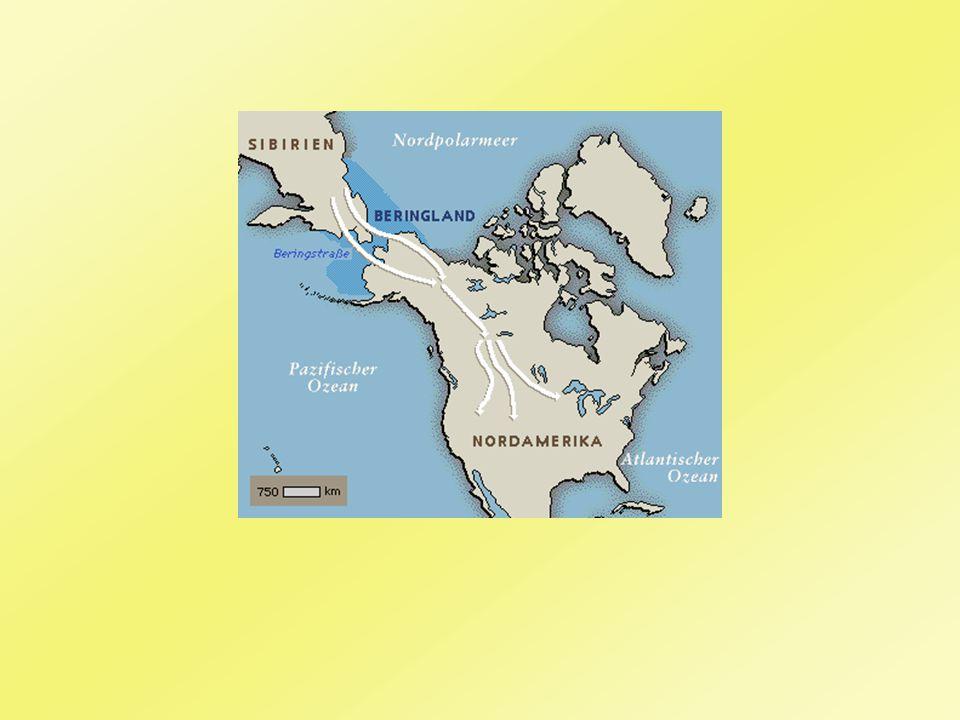 1. Vorkoloniale Zeit Vor Kolumbus: Kontinent war bereits besiedelt Einwanderer aus Asien über Beringstraße nach Amerika (vor 30.000 Jahren)