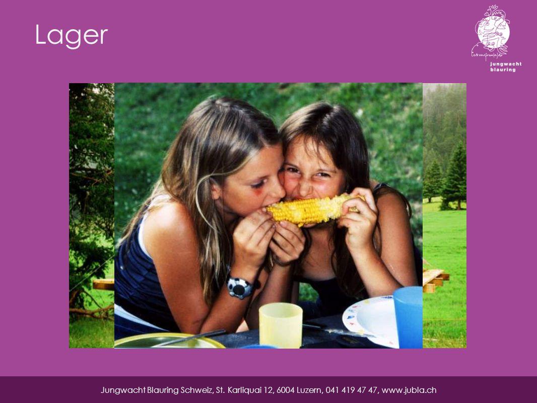 Lager Jungwacht Blauring Schweiz, St. Karliquai 12, 6004 Luzern, 041 419 47 47, www.jubla.ch