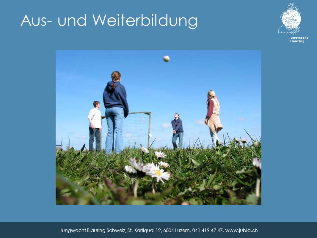 Aus- und Weiterbildung Jungwacht Blauring Schweiz, St.