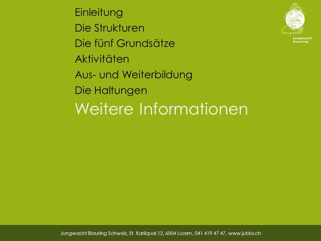 Weitere Informationen Jungwacht Blauring Schweiz, St.