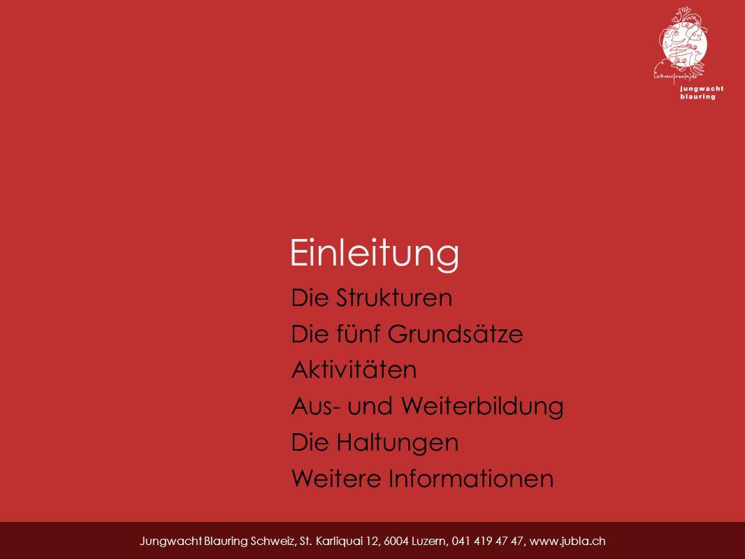 Einleitung Jungwacht Blauring Schweiz, St.