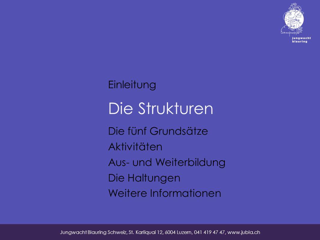 Die Strukturen Jungwacht Blauring Schweiz, St.