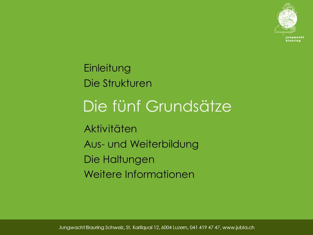 Die fünf Grundsätze Jungwacht Blauring Schweiz, St.