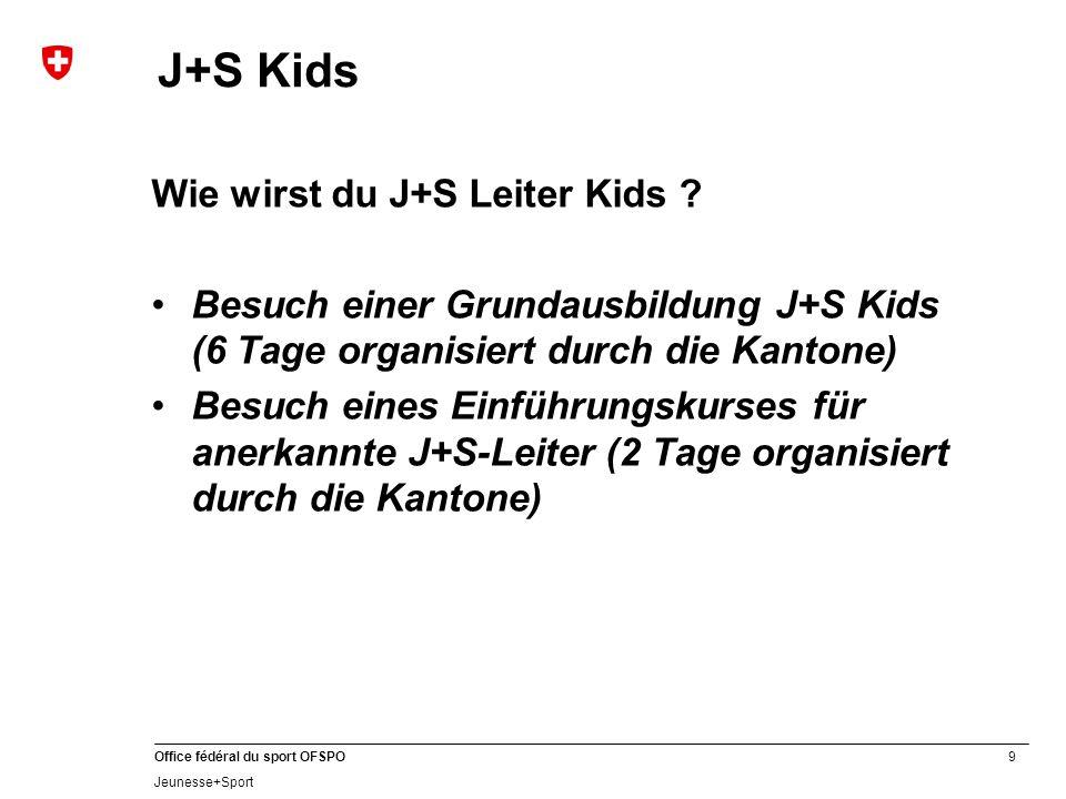 9 Office fédéral du sport OFSPO Jeunesse+Sport J+S Kids Wie wirst du J+S Leiter Kids .