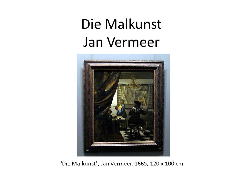 Die Malkunst Jan Vermeer 'Die Malkunst', Jan Vermeer, 1665, 120 x 100 cm
