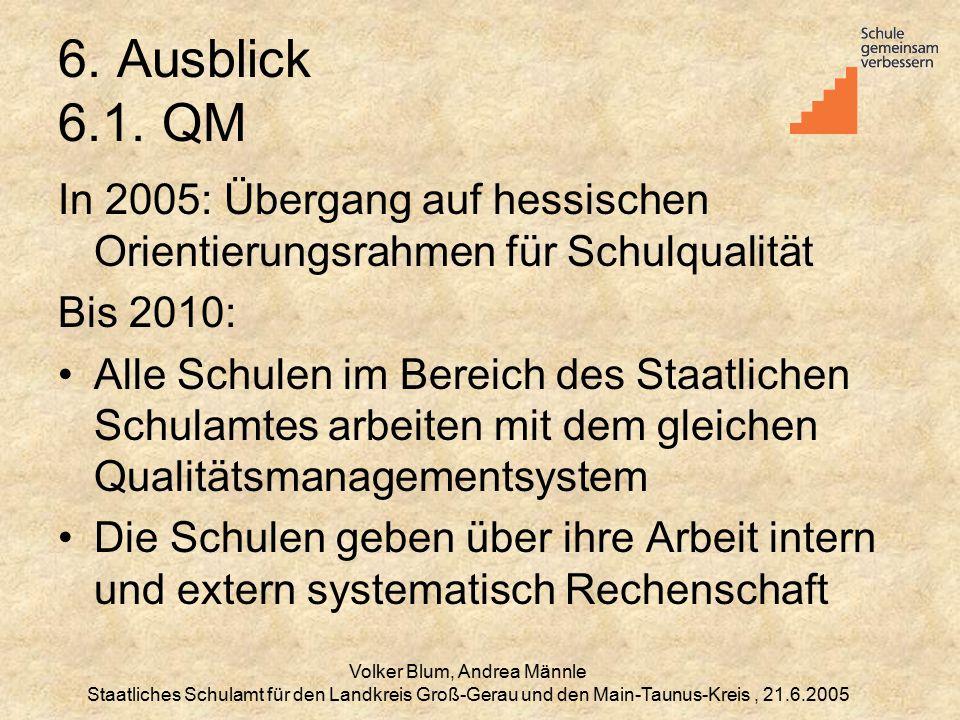 Volker Blum, Andrea Männle Staatliches Schulamt für den Landkreis Groß-Gerau und den Main-Taunus-Kreis, 21.6.2005 6.