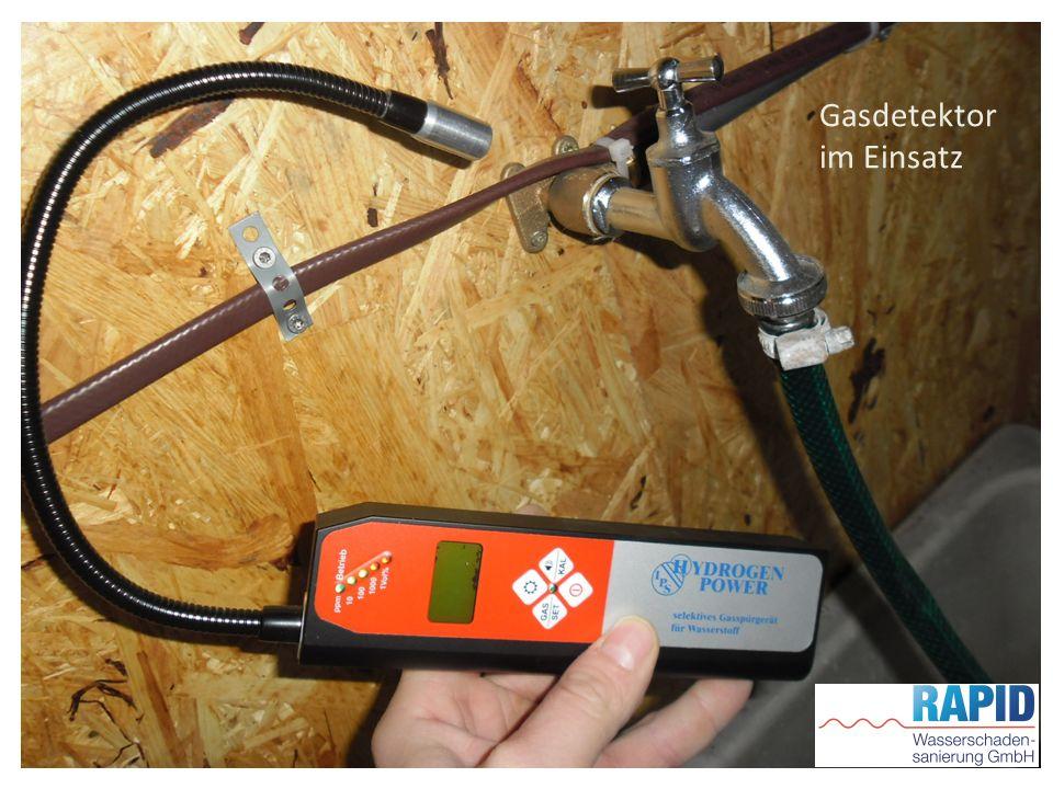 Gasdetektor im Einsatz