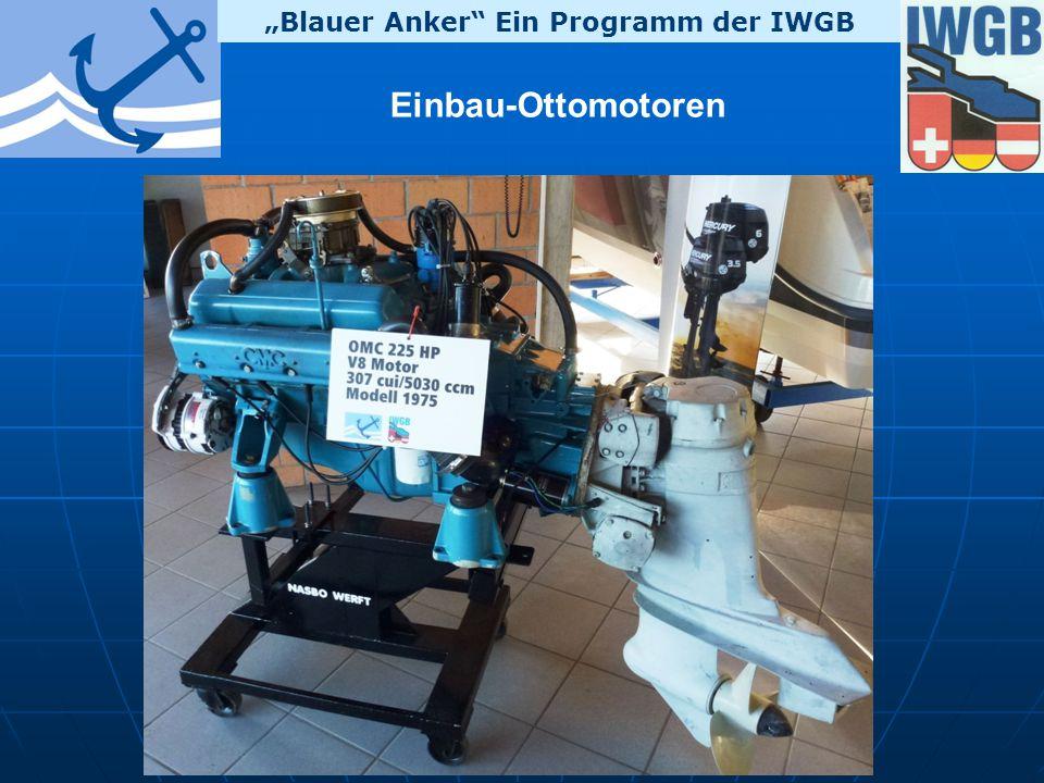 """""""Blauer Anker Ein Programm der IWGB Einbau-Ottomotoren"""