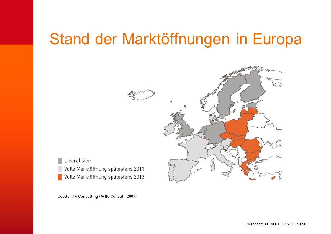 © economiesuisse Stand der Marktöffnungen in Europa 15.04.2015 Seite 5