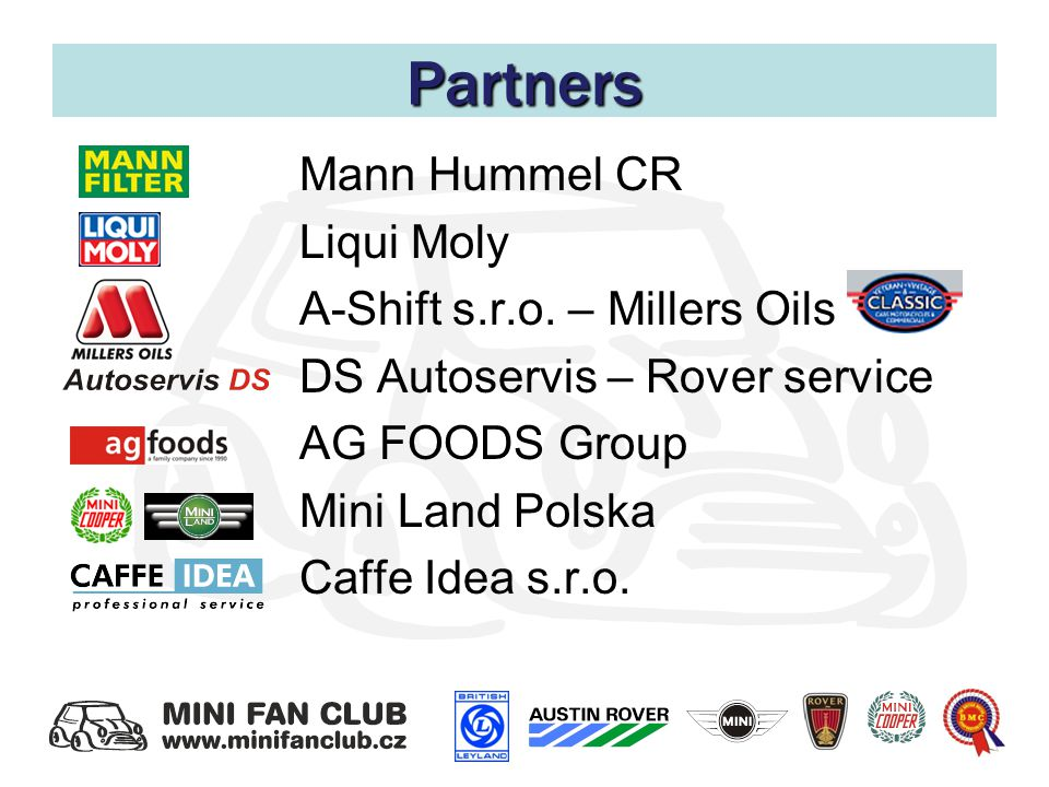Partners Mann Hummel CR Liqui Moly A-Shift s.r.o.