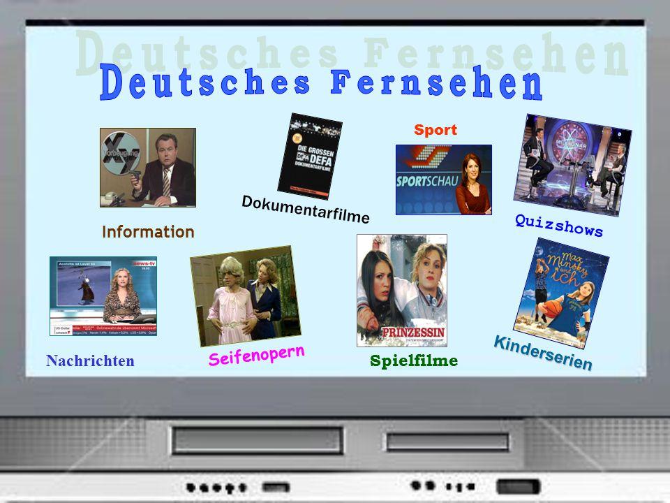 Information Nachrichten Dokumentarfilme Sport Quizshows Seifenopern Spielfilme Kinderserien