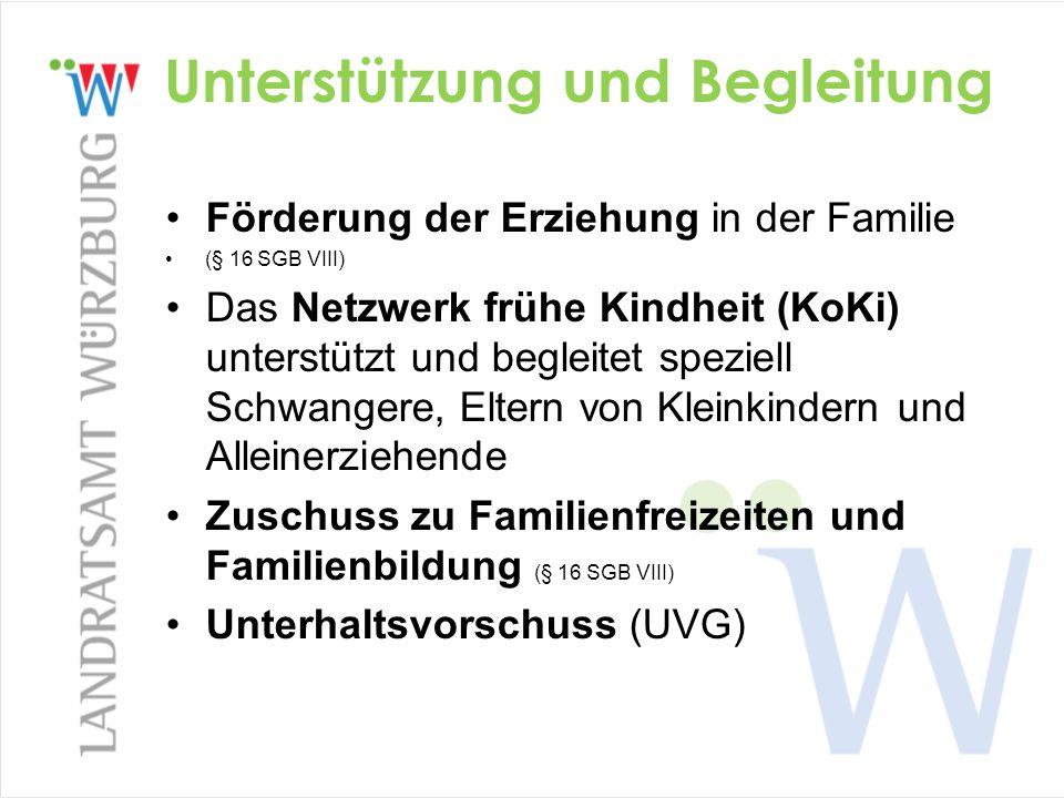 Unterstützung und Begleitung Förderung der Erziehung in der Familie (§ 16 SGB VIII) Das Netzwerk frühe Kindheit (KoKi) unterstützt und begleitet spezi