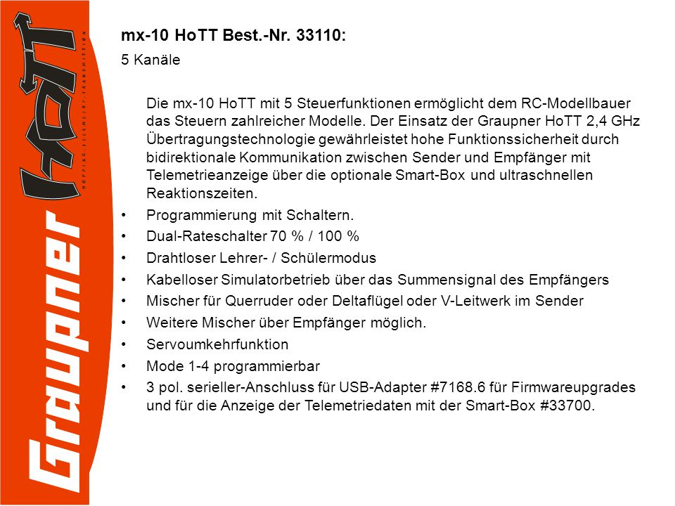 mx-10 HoTT Best.-Nr.
