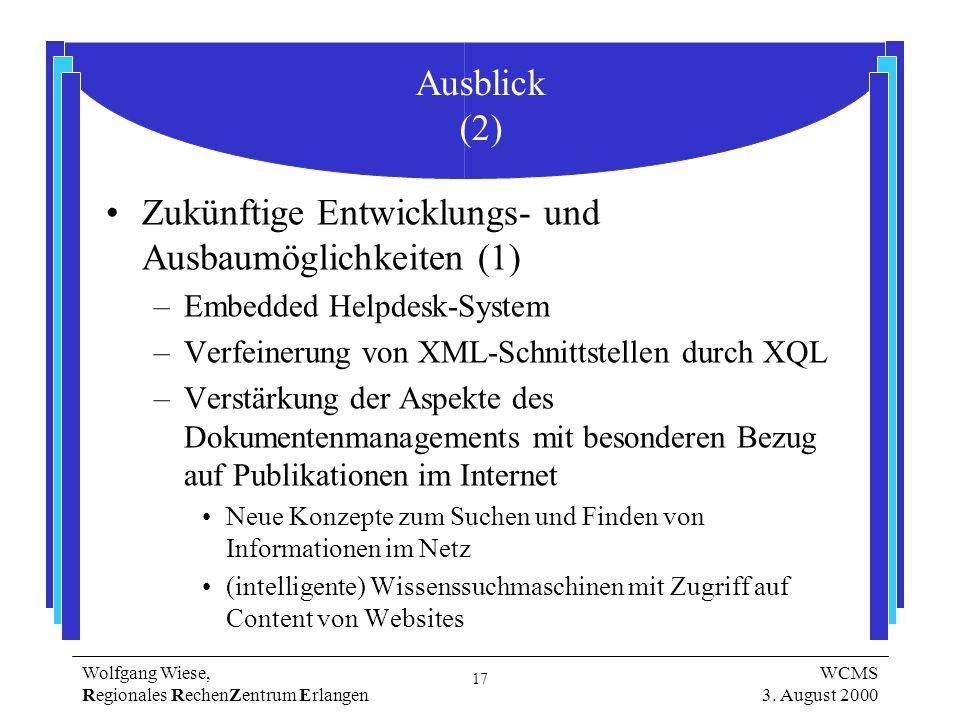 17 Wolfgang Wiese, Regionales RechenZentrum Erlangen WCMS 3.